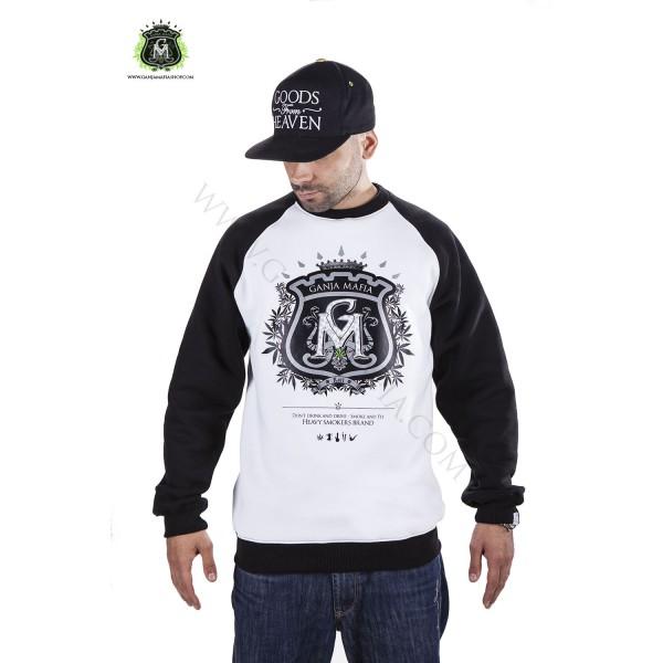oficjalny sklep nowe tanie kod promocyjny Bluza Ganja Mafia Klasyk Herb white/black :: ODZIEŻ ULICZNA
