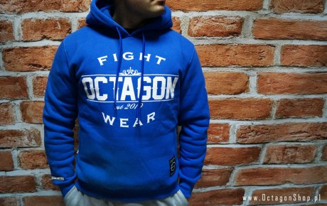 Bluza Octagon Basic Fight Wear niebieska z kapturem