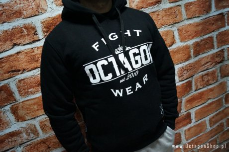 Bluza Octagon Basic Fight Wear czarna z kapturem