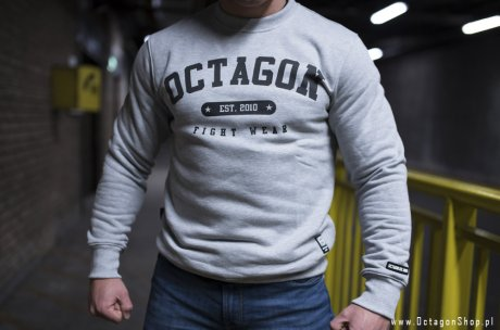 Bluza Octagon Basic Fight Wear est 2010 szara bez kaptura