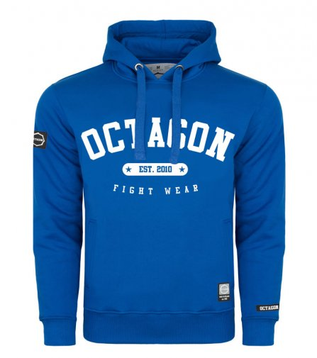 Bluza Octagon Basic Fight Wear est. 2010 niebieska z kapturem