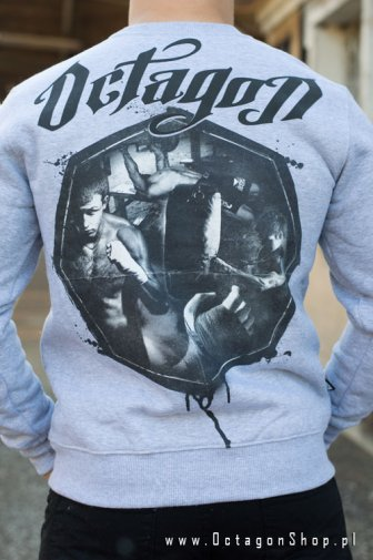 Bluza Octagon Fight Life szara bez kaptura