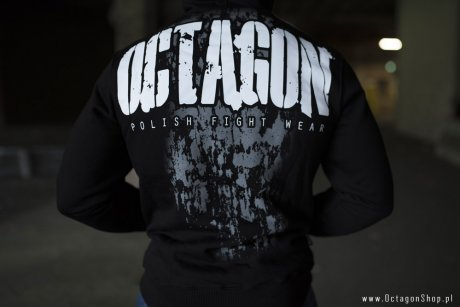 Bluza Octagon Polish Fight Wear czarna z kapturem OKAZJA