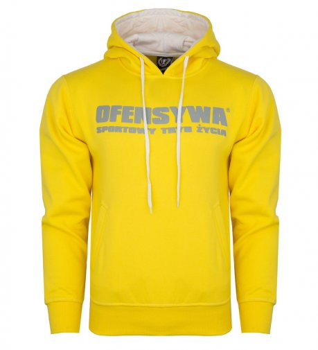 Bluza OFENSYWA yellow z kapturem