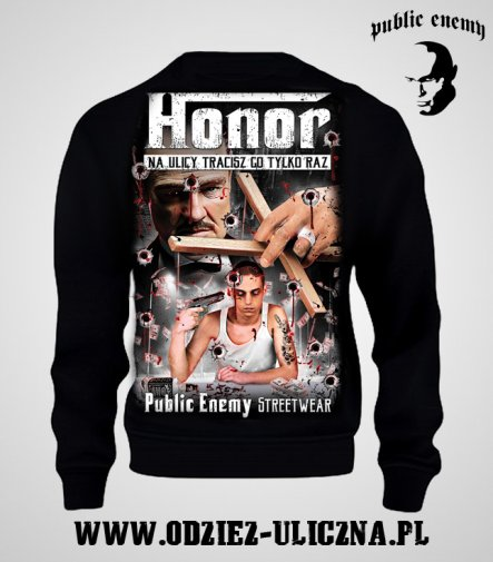Bluza Public Enemy Honor bez kaptura