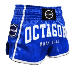 Spodenki Muay Thai Octagon Blue/White