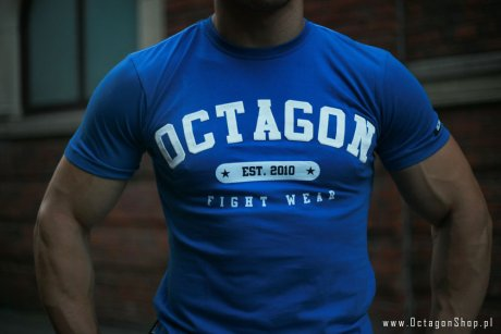 T-shirt Octagon Fight Wear est. 2010 niebieski