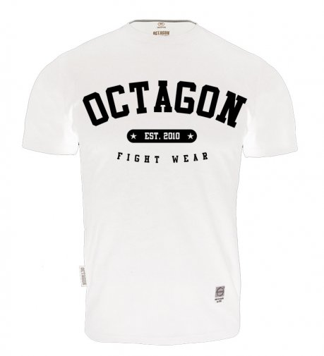 T-shirt Octagon Fight Wear est. 2010 biały