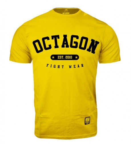 T-shirt Octagon Fight Wear est. 2010 żółty