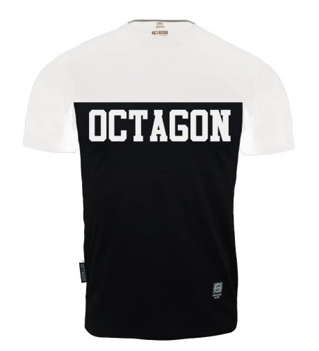 T-shirt Octagon Line black/white
