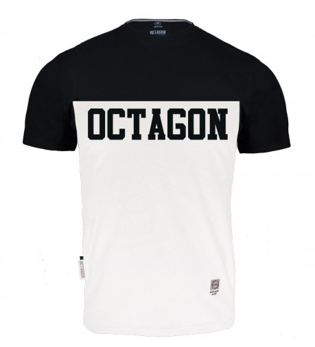 T-shirt Octagon Line white/black