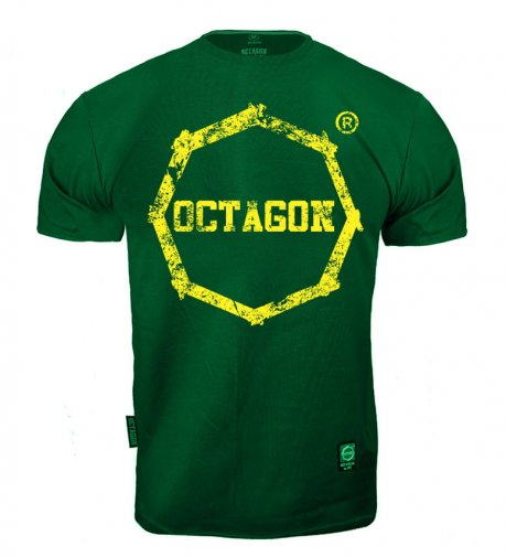 T-shirt Octagon Logo Smash duże zielony