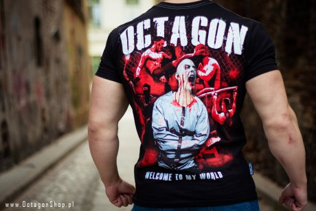 T-shirt Octagon Welcome to my world
