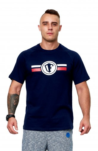 T-shirt OFENSYWA stripes logo navy