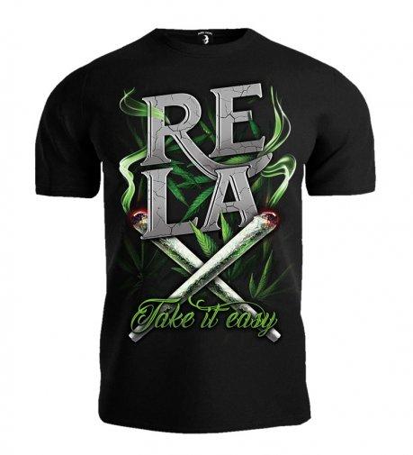 67c4ffd42 T-shirt Public Enemy RELAX Take it easy czarny
