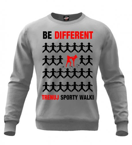Bluza Be Different sporty walki (szara bez kaptura)