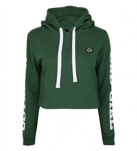 "Bluza damska Octagon ""BAD GIRL"" green z kapturem"