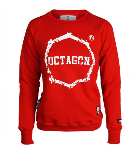 Bluza damska Octagon Logo Second red