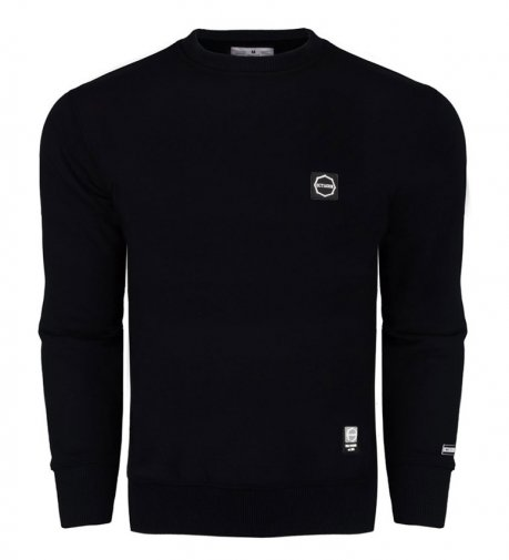 Bluza Octagon Small Logo black bez kaptura