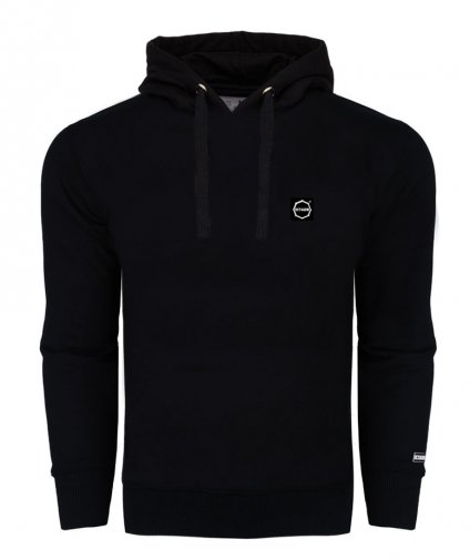 Bluza Octagon Small Logo black z kapturem