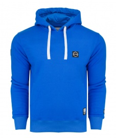 Bluza Octagon Small Logo blue z kapturem