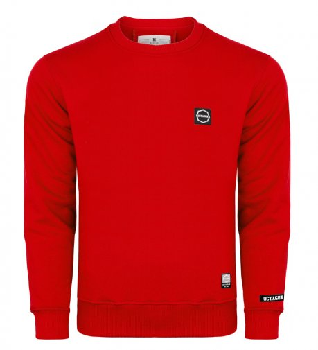 Bluza Octagon Small Logo red bez kaptura