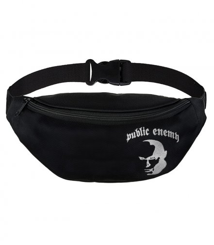 Saszetka nerka Public Enemy Logo black
