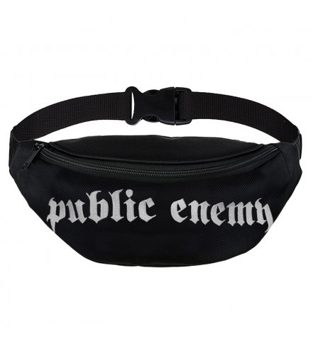 Saszetka nerka Public Enemy Caption black
