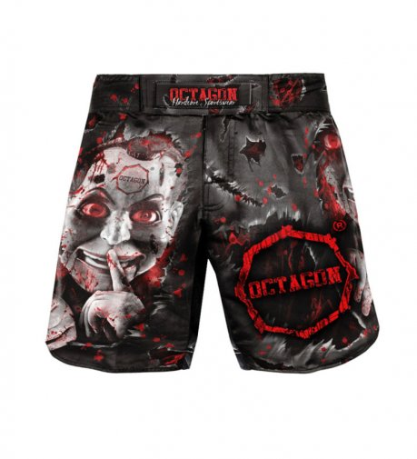 Spodenki MMA szorty Octagon Be Quiet Or Be Dead