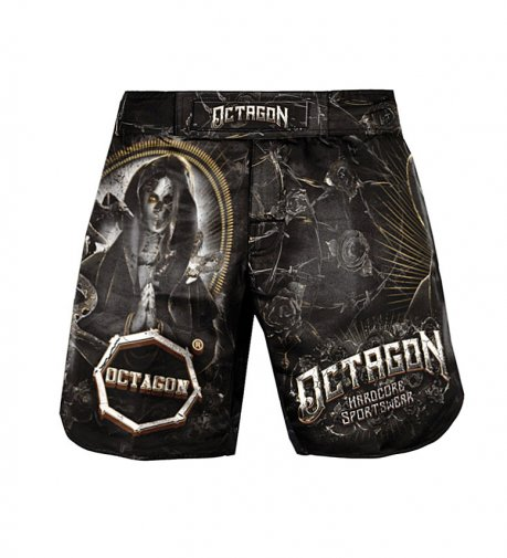 Spodenki MMA szorty Octagon Pray For Death