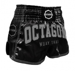 Spodenki Muay Thai Octagon Black/Grey