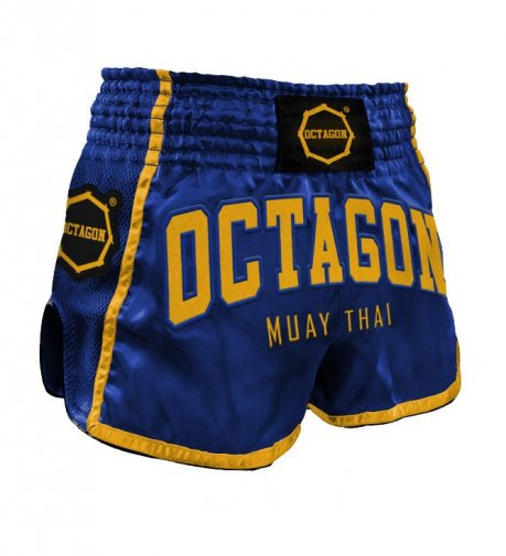 Spodenki Muay Thai Octagon Dark Navy/Yellow