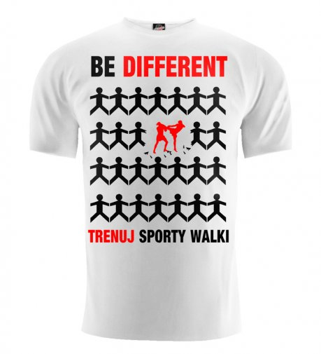 T-shirt Be Different sporty walki biały