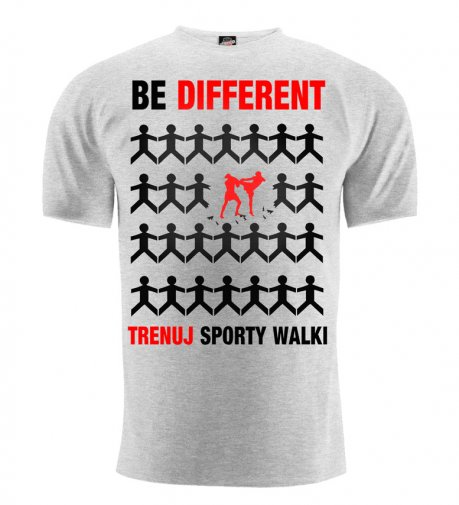 T-shirt Be Different sporty walki szary