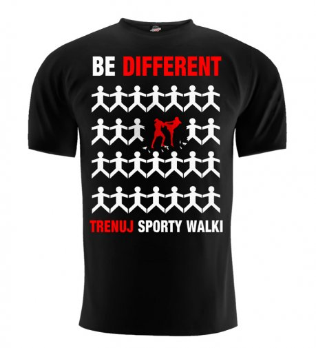 T-shirt Be Different sporty walki czarny