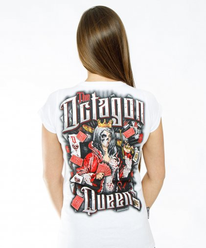 T-shirt damski Octagon Queen white