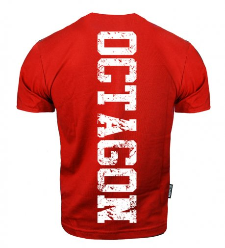 T-shirt Octagon Fight Wear OCTAGON czerwony