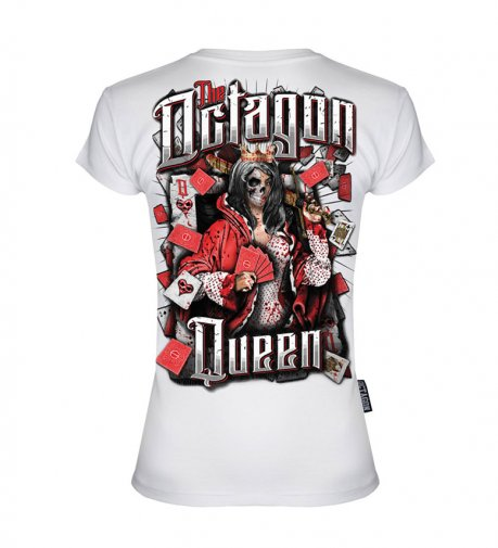 T-shirt Octagon Queen White