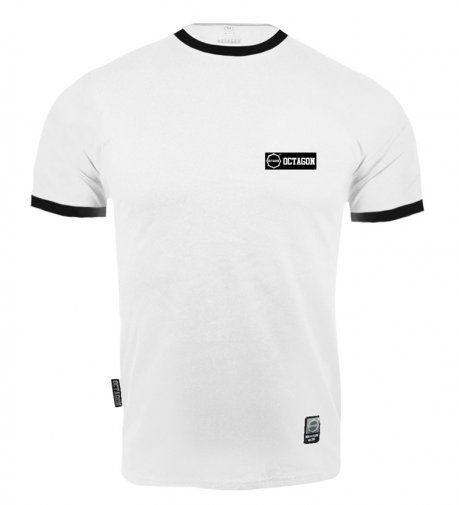 T-shirt Octagon Small Logo Caption white
