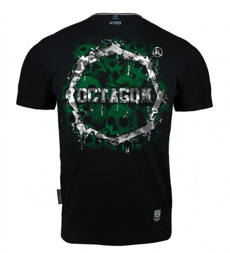 T-shirt Octagon Skulls black/green