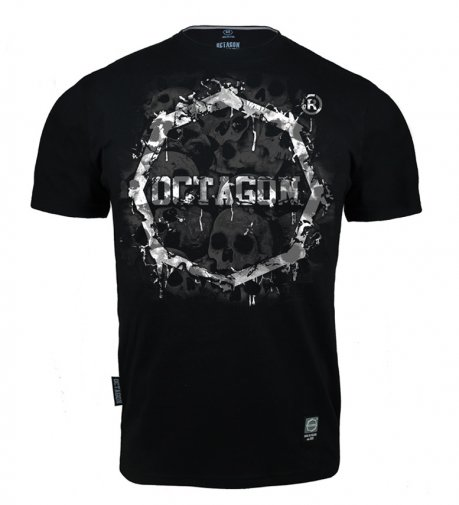 T-shirt Octagon Skulls black/white