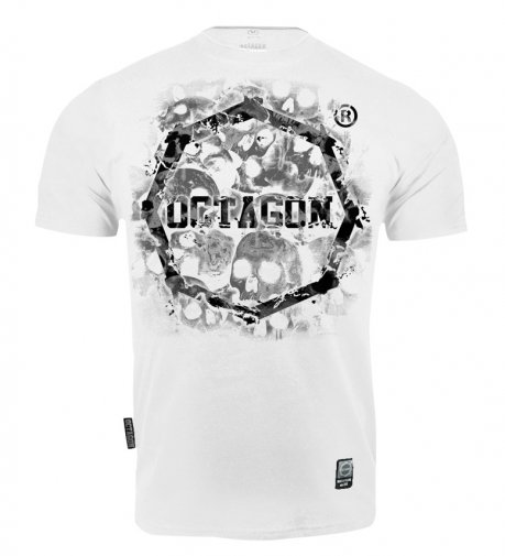 T-shirt Octagon Skulls white