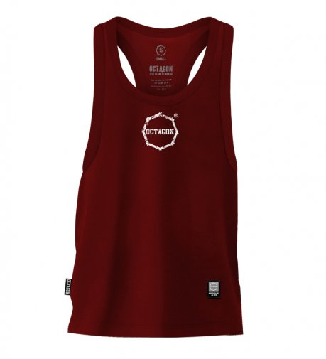 Tank Top Octagon Logo Smash Small burgund